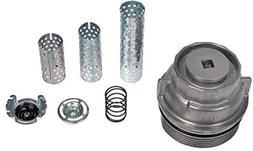 APDTY 028127 Oil Filter Aluminum Cap Housing With Tube Assor