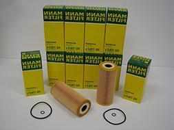 10 Pack Factory Mann Brand Oil Filters for Volkswagen TDI