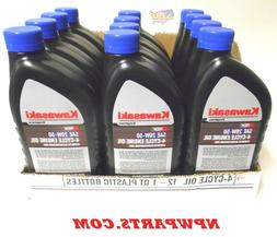 12PK Genuine OEM Kawasaki 20W50 Motor Engine Oil Quart 4-Cyc