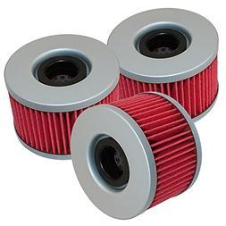 Caltric 3 Pack Oil Filter Fits FITS HONDA SXS700M4 SXS700M2