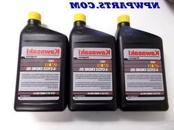 3 quarts  KAWASAKI 4-CYCLE ENGINE OIL,3 - 1 QT PLASTIC BOTTL