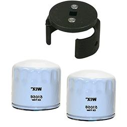 Wix 51056 Oil Filter Bundle - 2 Filters and 1 Matching Filte