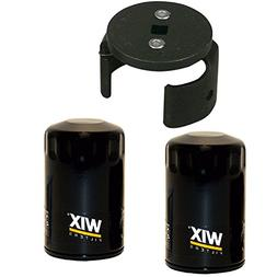 Wix 51516 Oil Filter Bundle - 2 Filters and 1 Matching Filte