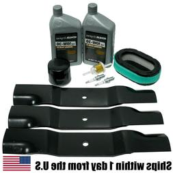 "Tune Up Maintenance Kit Blades Oil Filters for 52"" Hustler R"