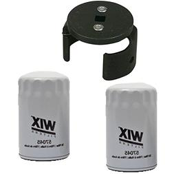 Wix 57045 Oil Filter Bundle - 2 Filters and 1 Matching Filte