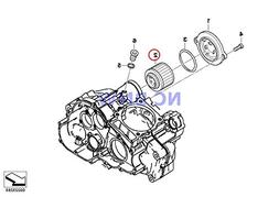 BMW Genuine Motorcycle Oil Filter Oil Filter Insert F650 F65