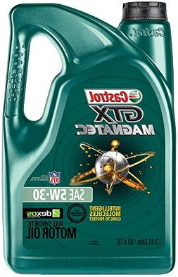 Castrol 03057 GTX MAGNATEC 5W-30 Full Synthetic Motor Oil, 5