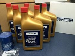 Genuine SUBARU Oil Change Kit Filter Gasket & 6 Qts Syntheti