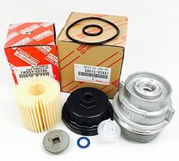 Genuine Toyota 04152-YZZA1 oil filter with Genuine Toyota 15