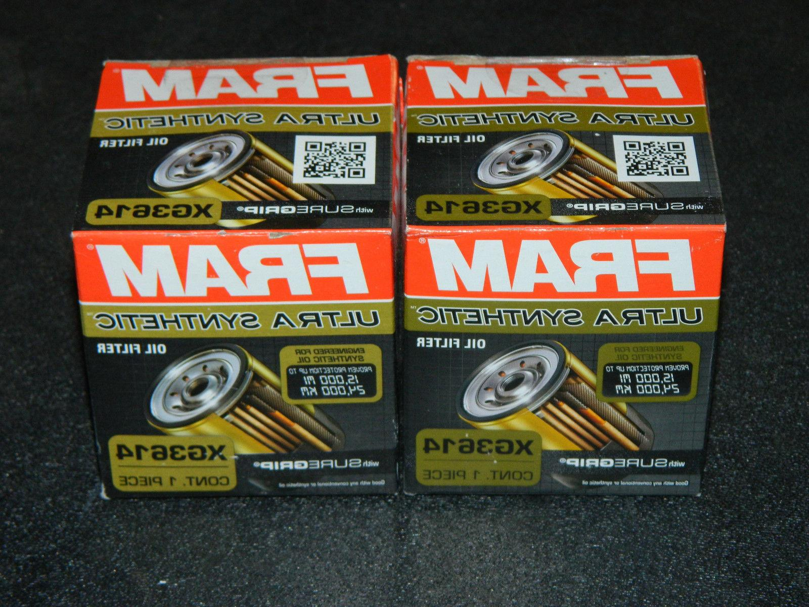 CHOICE 2, 4 NEW FRAM SYNTHETIC ENGINE OIL FILTER