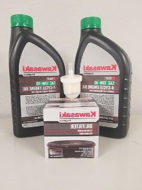 Kawasaki Engine Oil Change Kit w/fuel filter    FREE SHIPPIN