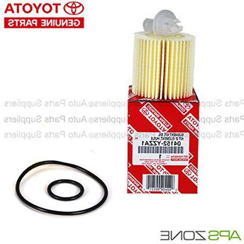 Genuine OEM Toyota Lexus Oil Filter + Plug 04152-Yzza1 Of