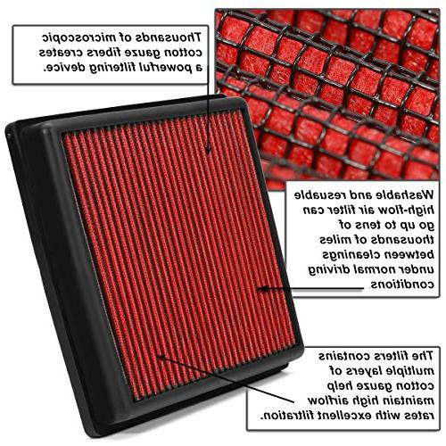 For Civic Reusable & Washable Replacement High Drop-in Air Filter