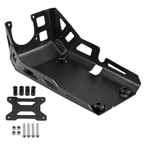 motorcycle expedition skid plate aluminum engine chassis