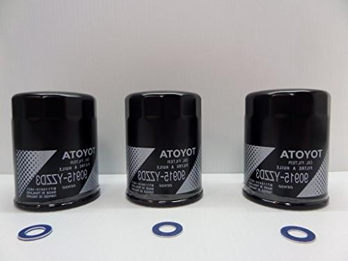oil filter 3 pack with gaskets genuine