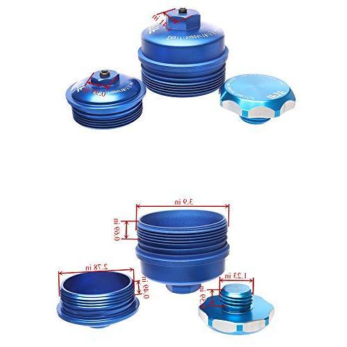 iFJF Oil filter Cap & Fuel Cap & Oil Cap Super Duty Aluminum