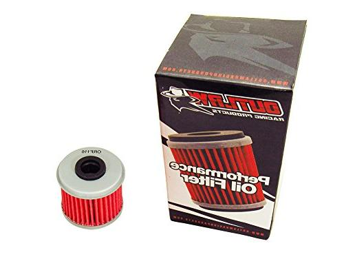 Outlaw Racing ORF116 Performance Oil Filter Compatible with Husqvarna TXC250 Honda TRX450R Replaces KN116