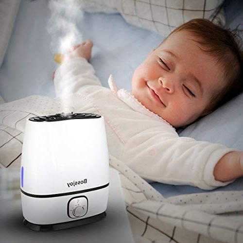 Good-Love Ultrasonic Humidifier with Essential Tray, for Baby, Bedroom, Nursery,