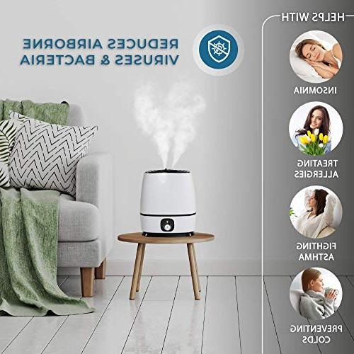 Ultrasonic Mist - High Output, Ultra Auto Light, Large Vaporizer by Everlasting Comfort