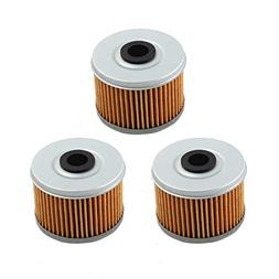 PARRATI New 3 pcs Oil Filter for Honda Rancher TRX300 350 TR
