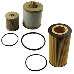 JDMSPEED New Diesel Oil Filter Fuel Filter Fit For Ford Powe