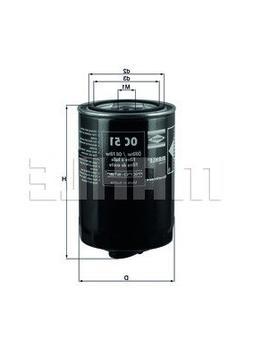 MAHLE Original OC 51 OF Engine Oil Filter