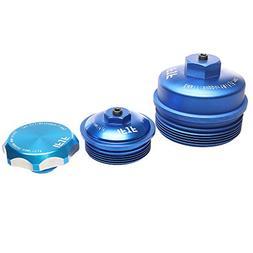 iFJF Oil filter Cap & Fuel filter Cap & Oil Fill Cap without