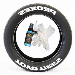 Tire Stickers Toyo Tires Proxes - Permanent DIY Glue On Whit