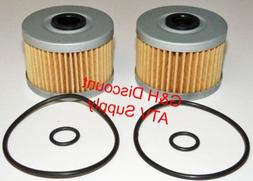 TWO OIL FILTERS WITH O-RINGS for the 1988-2000 Honda TRX300